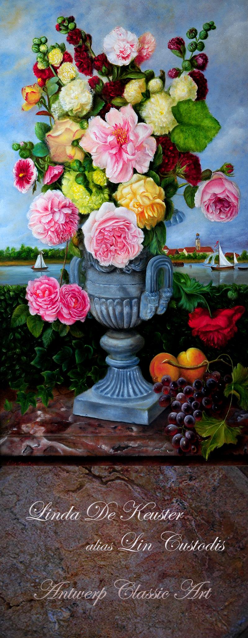 Banner tentoonstelling Flowers marmer okkklein